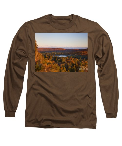 Fall Colors Orberg Mountain North Shore Minnesota Long Sleeve T-Shirt