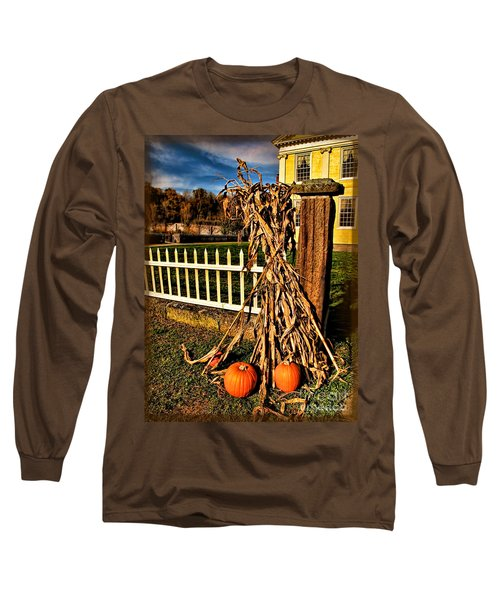 Fall Fence At Hale Farm Long Sleeve T-Shirt by Joan  Minchak
