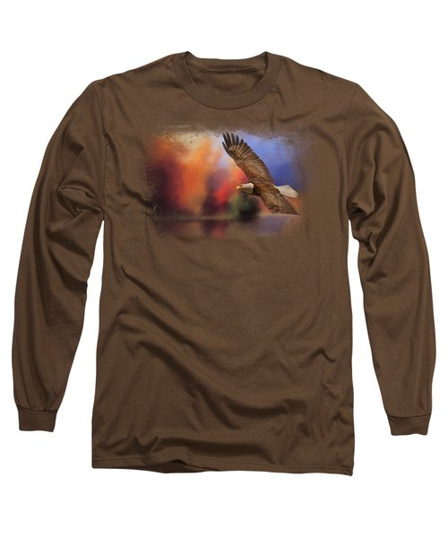 Fall Flight - Bald Eagle Long Sleeve T-Shirt