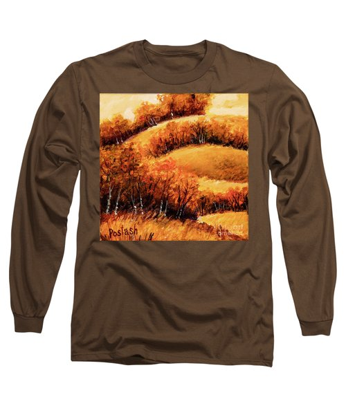 Long Sleeve T-Shirt featuring the painting Fall by Igor Postash