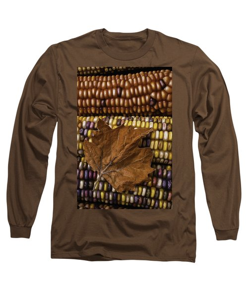 Fall Leaf And Indian Corn Long Sleeve T-Shirt