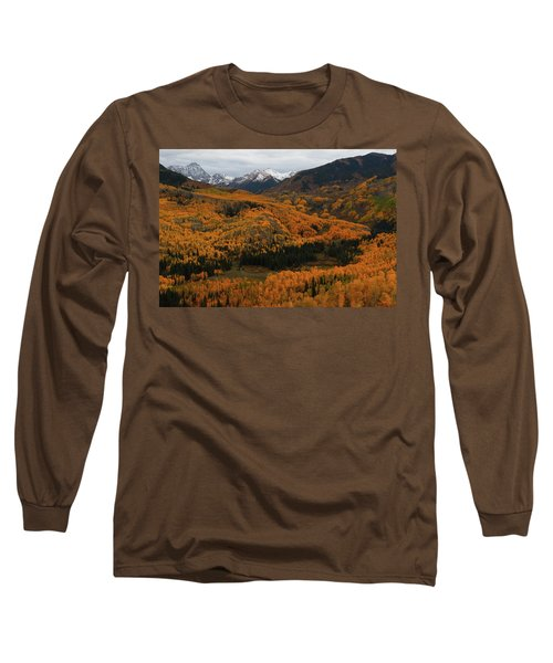 Fall On Full Display At Capitol Creek In Colorado Long Sleeve T-Shirt by Jetson Nguyen