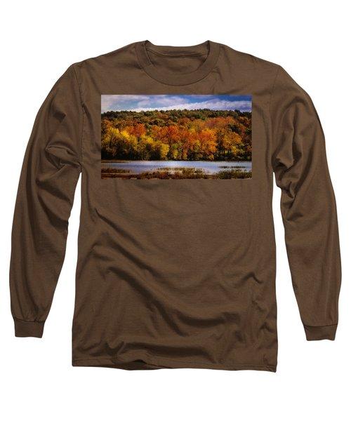 Fall On Springfield Lake Long Sleeve T-Shirt