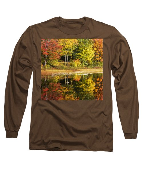 Long Sleeve T-Shirt featuring the photograph Fall Reflection by Chad Dutson