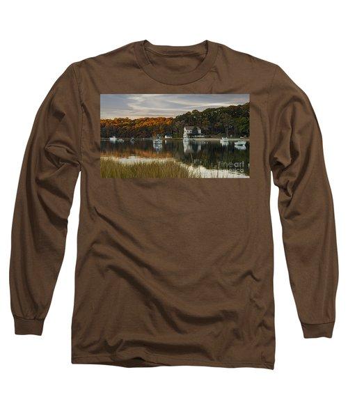 Fall Sunset In Centerport  Long Sleeve T-Shirt