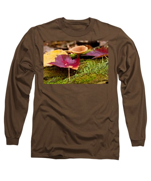 Long Sleeve T-Shirt featuring the photograph Fallen Leaves And Mushrooms by Brent L Ander