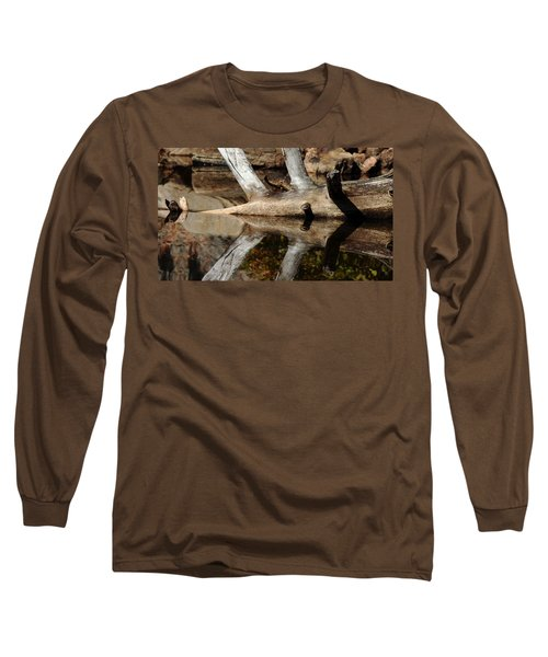 Long Sleeve T-Shirt featuring the photograph Fallen Tree Mirror Image by Debbie Oppermann