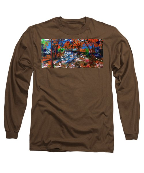 Long Sleeve T-Shirt featuring the painting Fall Colors And First Snow by Walter Fahmy
