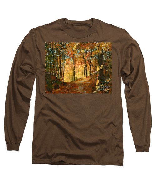 Fall's Radiance In Quebec Long Sleeve T-Shirt