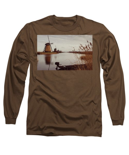 Famous Windmills At Kinderdijk, Netherlands Long Sleeve T-Shirt
