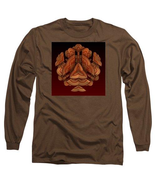 Long Sleeve T-Shirt featuring the digital art Fan Dance by Lyle Hatch