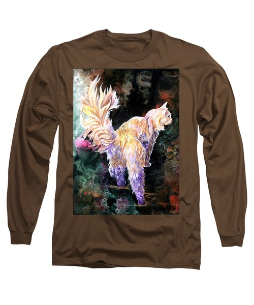 Long Sleeve T-Shirt featuring the painting Fancy Britches by Sherry Shipley