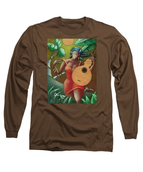Fantasia Boricua Long Sleeve T-Shirt by Oscar Ortiz