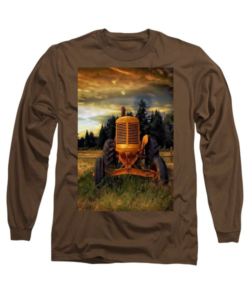 Vintage Long Sleeve T-Shirt featuring the photograph Farm On by Aaron Berg