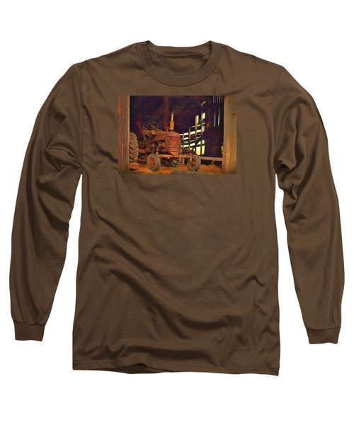 Farmall 300 #1. South Hero, Vermont Long Sleeve T-Shirt by George Robinson