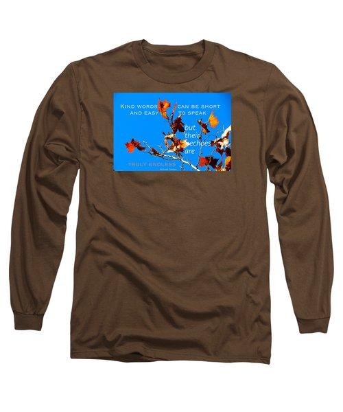Farthest Reach Long Sleeve T-Shirt by David Norman