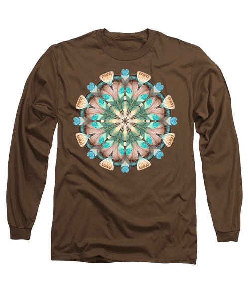 Feathers Long Sleeve T-Shirt by Mary Machare
