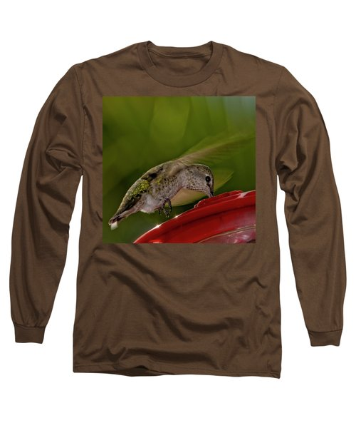 Long Sleeve T-Shirt featuring the photograph Female Anna's Hummingbird H40 by Mark Myhaver