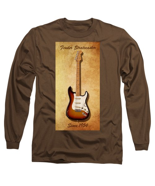Long Sleeve T-Shirt featuring the digital art Fender Stratocaster Since 1954 by WB Johnston