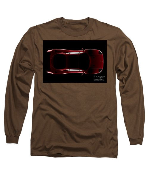 Ferrari F40 - Top View Long Sleeve T-Shirt