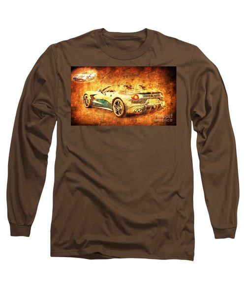Ferrari F60 America, Golden Poster, Birthday Gift For Men Long Sleeve T-Shirt