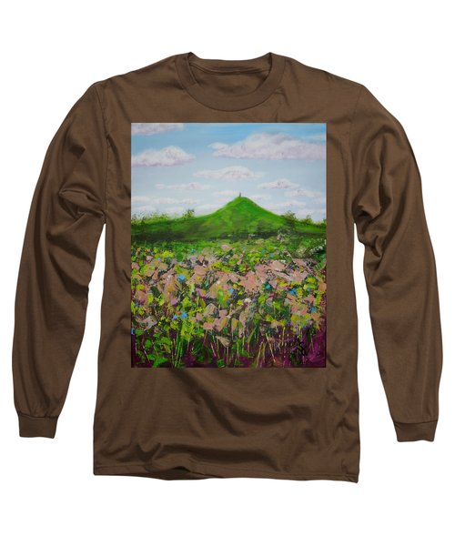 Fields To Glastonbury Tor Long Sleeve T-Shirt