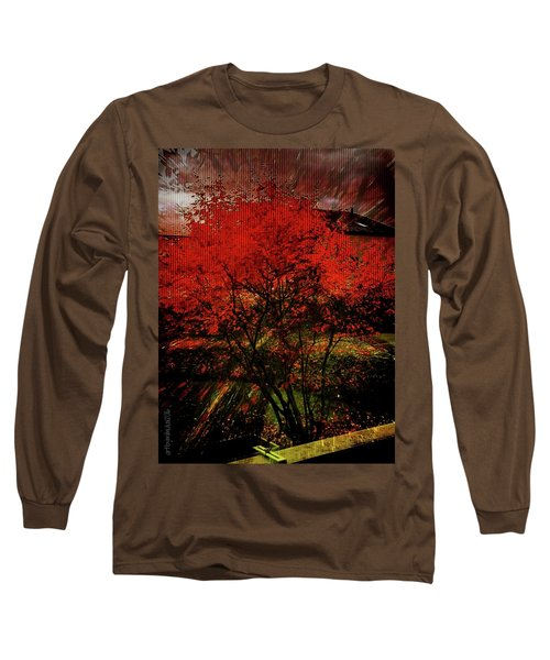 Long Sleeve T-Shirt featuring the photograph Fiery Dance by Mimulux patricia no No
