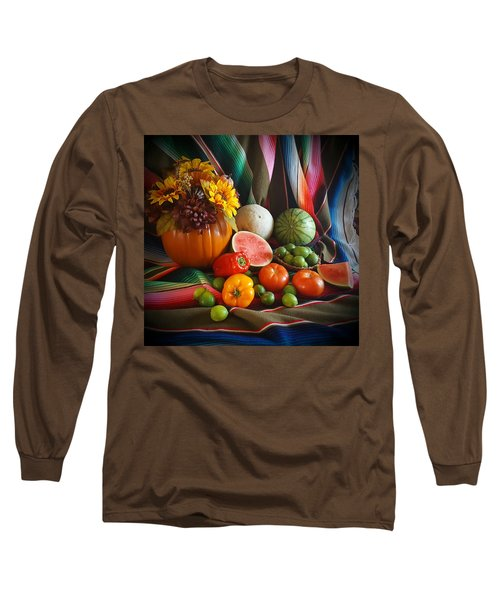 Long Sleeve T-Shirt featuring the painting Fiesta Fall Harvest by Marilyn Smith
