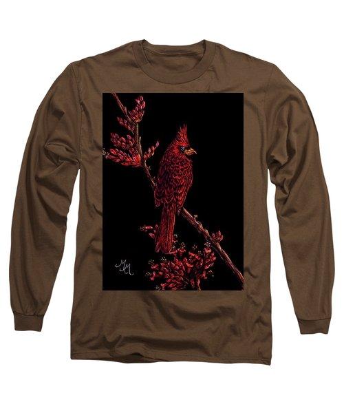 Fire Cardinal Long Sleeve T-Shirt