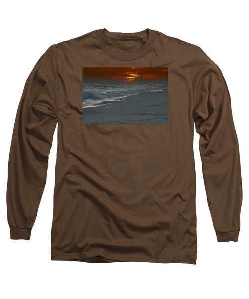 Fire In The Horizon Long Sleeve T-Shirt by Renee Hardison