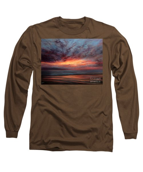 Fire In The Sky Long Sleeve T-Shirt by Valerie Travers