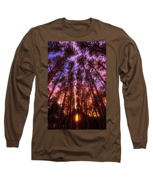 Fire Sky - Sunset At Retzer Nature Center - Waukesha Wisconsin Long Sleeve T-Shirt by Jennifer Rondinelli Reilly - Fine Art Photography
