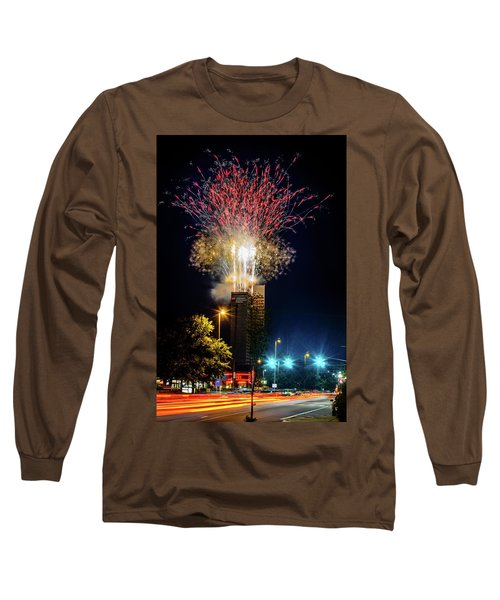 Fire Works In Fort Wayne Long Sleeve T-Shirt