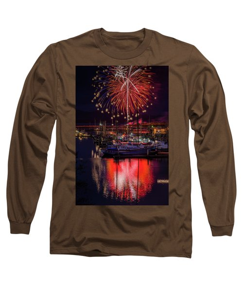 Fireworks At The Docks Long Sleeve T-Shirt