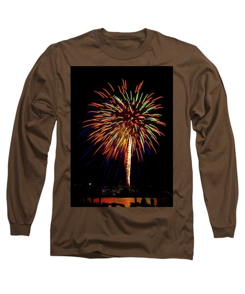 Long Sleeve T-Shirt featuring the photograph Fireworks by Bill Barber