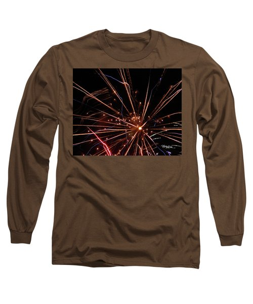Long Sleeve T-Shirt featuring the photograph Fireworks Blast #0703 by Barbara Tristan
