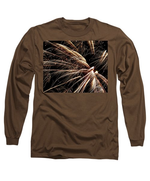 Long Sleeve T-Shirt featuring the photograph Fireworks Evolution #0710 by Barbara Tristan