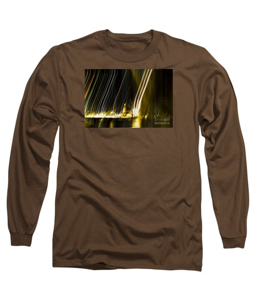 fireworks in Port of Malaga Long Sleeve T-Shirt by Perry Van Munster