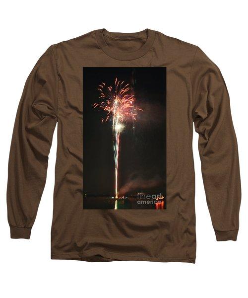 Fireworks On The Lake Long Sleeve T-Shirt