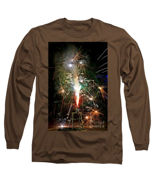 Fireworks Long Sleeve T-Shirt by Vivian Krug Cotton