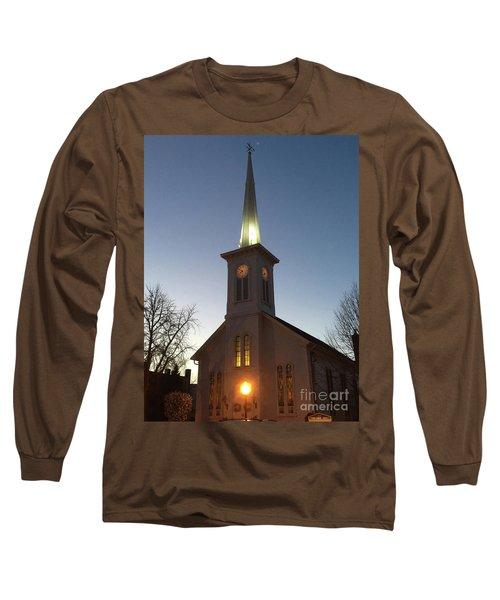 First Presbyterian Churc Babylon N.y After Sunset Long Sleeve T-Shirt