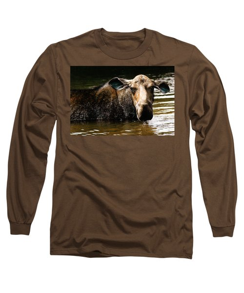 First West Branch Pond Moose Long Sleeve T-Shirt