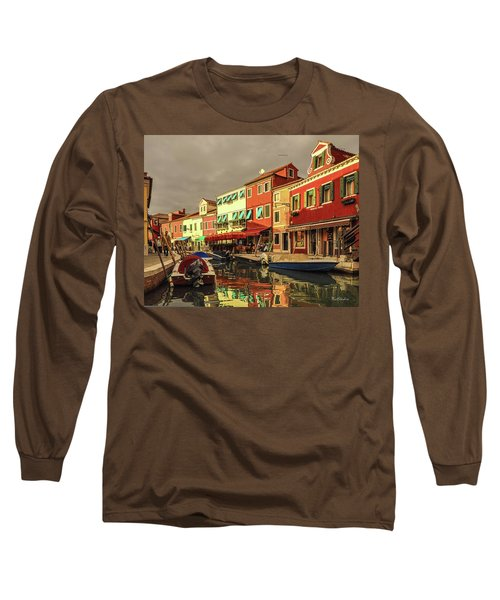 Fishing Boats In Colorful Burano Long Sleeve T-Shirt