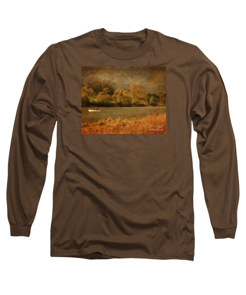 Fishing On Thornton Reservoir Leicestershire Long Sleeve T-Shirt by Linsey Williams