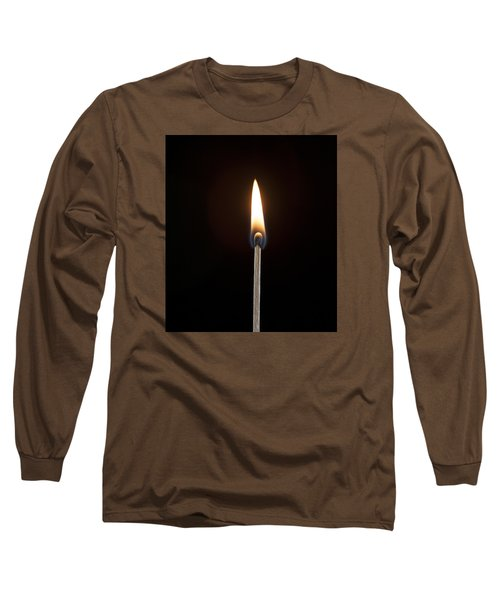Long Sleeve T-Shirt featuring the photograph Flame by Tyson and Kathy Smith