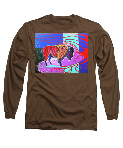 Flaming Heart Buffalo Long Sleeve T-Shirt