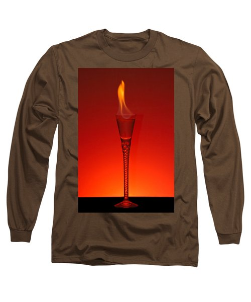 Long Sleeve T-Shirt featuring the photograph Flaming Hot by Gert Lavsen