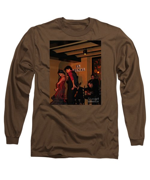 Long Sleeve T-Shirt featuring the photograph Flamingo Dancers by Haleh Mahbod
