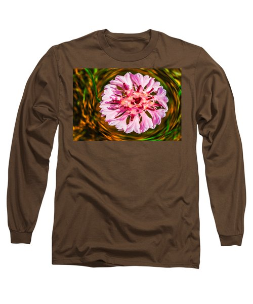 Long Sleeve T-Shirt featuring the painting Floating In Time by Omaste Witkowski