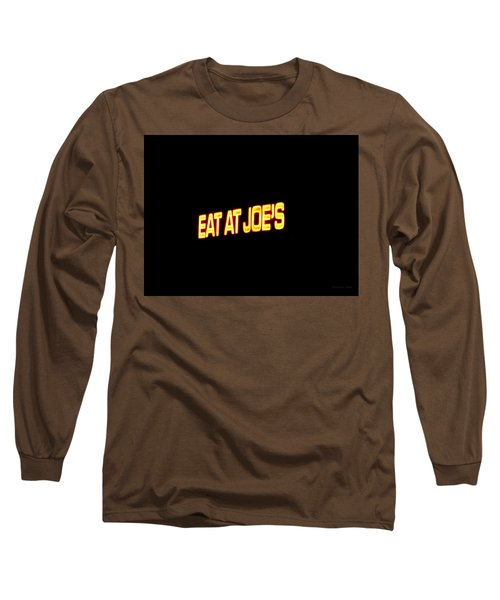 Floating Neon - Eat At Joes Long Sleeve T-Shirt